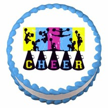 Cheerleading ~ Edible Image Cake / Cupcake Topper - $7.60