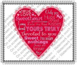 "8"" Round ~ Valentines Day Heart Scrapbook Birthday ~ Edible Image Cake/C... - $8.07"