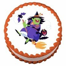 Halloween Witch ~ Edible Image Cake / Cupcake Topper - $7.59