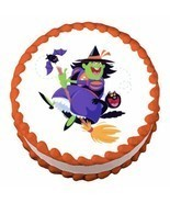 Halloween Witch ~ Edible Image Cake / Cupcake Topper - ₹530.88 INR