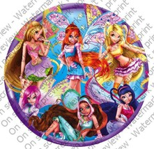 "2"" Round ~ Fairy Friends Winx Birthday ~ Edible Image Cake/Cupcake Toppe... - $8.54"