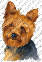 1/4 Sheet ~ Yorkshire Terrier Painting ~ Edible Image Cake/Cupcake Toppe... - $8.54