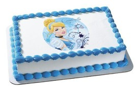 Cinderella Edible Cake Topper Decoration - €7,32 EUR
