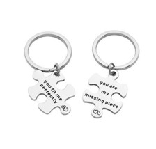 Eilygen Puzzle Piece Couple Keychains You are My Missing Piece You Fit M... - $15.24