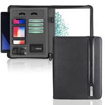 Executive Zippered PU Leather Portfolio for Men, Professional Portfolio ... - $32.13