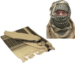 Tan Shemagh Tactical Desert Keffiyeh Arab Heavyweight Scarf - $13.99