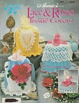 """Annie's Attic """"Lace & Roses Thread Tissue Covers"""" Thread Crochet - Gently Used - $7.00"""