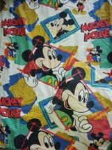 Vintage Disney Mickey Mouse TWIN Sheet Set 1989 Walt Disney Company Cotton - $33.85