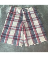 Boy's Size 8 Cherokee Red White Navy Blue Plaid Summer Shorts Used - $12.00