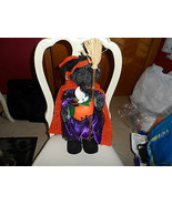 "Adorable 19"" stand alone bear dressed for Halloween - $16.00"