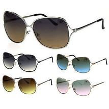 Womens Classic Mod Oversize Butterfly Metal Designer Sunglasses - $12.95
