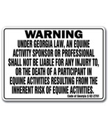 GEORGIA Equine Sign activity liability warning ... - $8.81