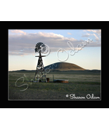 New Mexico Windmill - Fine Art Print - WM0018C - $17.50