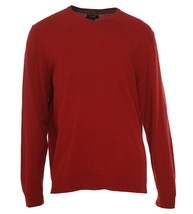 Alfani Men's Crimson Red Classic V-Neck Solid Knit Pullover Sweater New - $19.99