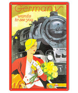 Train To Germany Reproduction Railroad Metal Sign 12x18 - $25.74