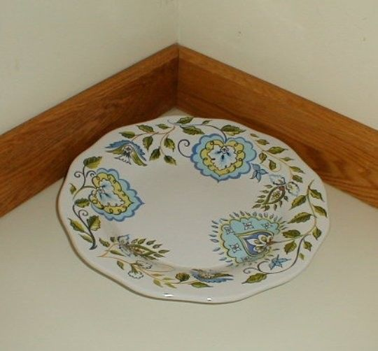 Longaberger Pottery Stoneware Tray Plate Earth & Sky Blue White New Dishwasher