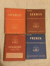 Lot Of 4 WWII U.S. War Deparment Language Guide (1943) PB - $98.99