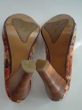 Peep In Size Slide Patent Leather Orange NAUGHTY 6 Toe Brown Heels B2766 MONKEY qaxpWw8X