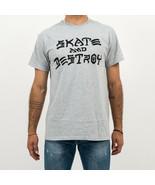 T-SHIRT UOMO THRASHER SKATE & DESTROY T-SHIRT 110103GY   Null - $31.94