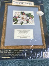 1997 Dimensions God Grant Me Treasure Thought Counted Cross Stitch Kit Flowers - $21.75