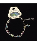 Bear Abalone Shell Inlayed Charm Anklet 7-9 in ... - $6.47