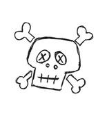 Skull Face-Digital Download-ClipArt-Art Clip-Di... - $3.00