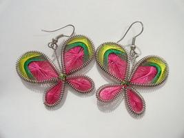 Spring Butterfly String Art Pierced Earrings - $12.99