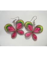 Springtime string art butterfly earrings  3  thumbtall