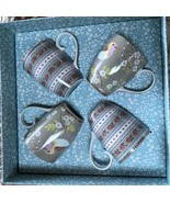PIP STUDIO HOME Floral Collection Gift Box 4 pc KHAKI Large 12oz Coffee ... - $96.53
