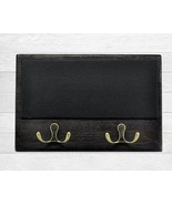 Dog Leash & Coat Holder, Wooden Message Board, Command Center,  White Wa... - $20.39
