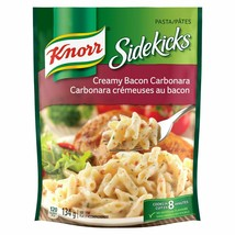 6 X Knorr Sidekicks Creamy Bacon Carbonara Pasta 134g Each - Canada - FRESH - $25.39