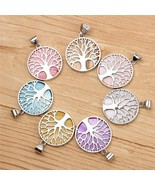 Women Energy Healing Pendant Necklace Tree of life Celtic Round Charm Ch... - $7.78