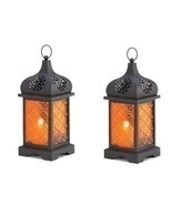2 Moroccan Temple Candle Lanterns - $33.00