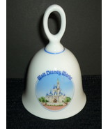 Walt Disney World Souvenir Porcelain Bell Cinderella Castle Design White... - $7.95