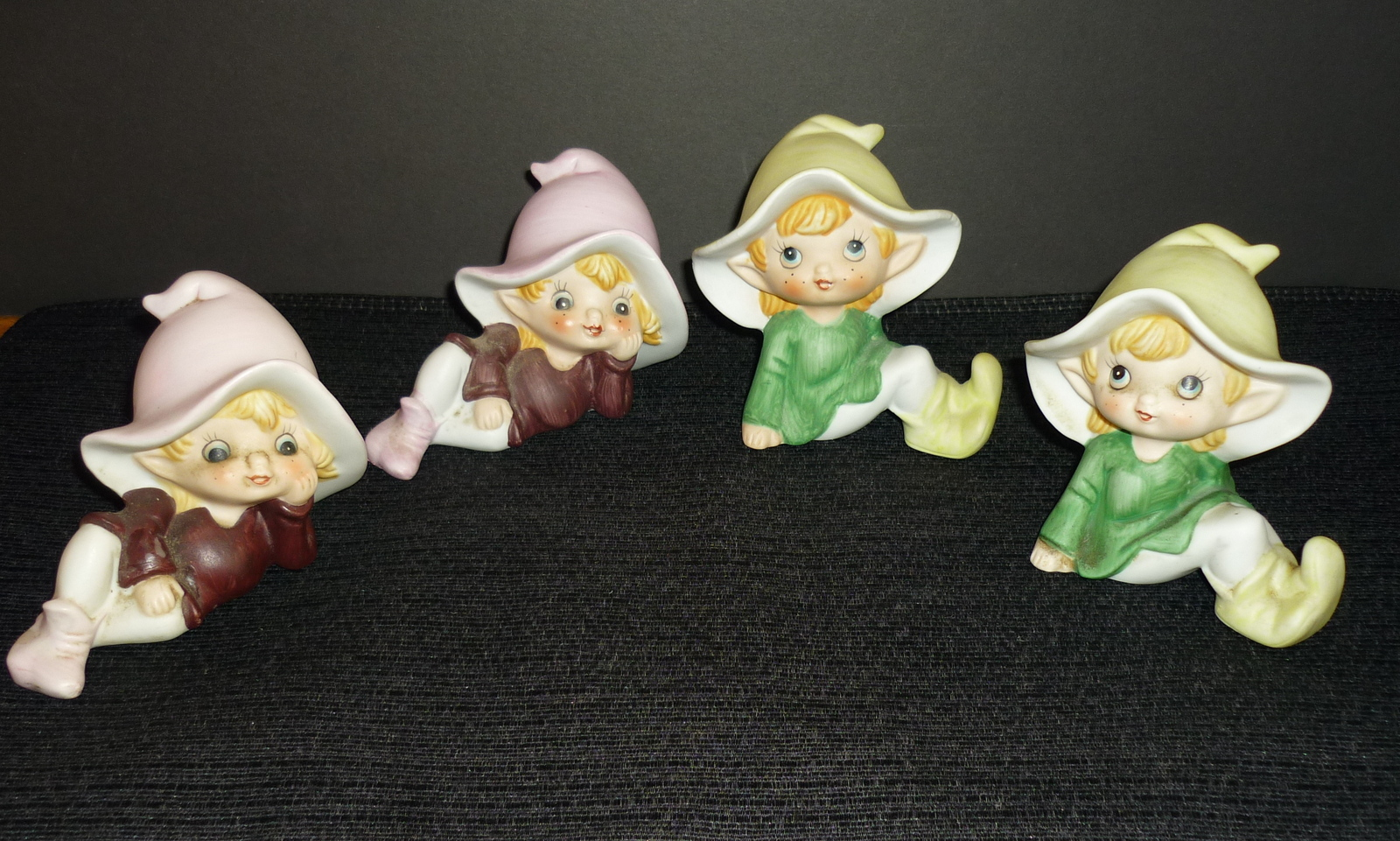 Homco home interiors figurines garden pixies elves elf Home interiors figurines homco