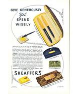 1940 Sheaffer Fountain Pen Pencil gift set print ad - $10.00