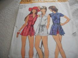 Misses Tennis Dress or Dress & Short Shorts Pattern Simplicity 5013 - $10.00