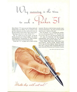 1946 Parker 51 Fountain Pen writing instrument print ad - $10.00