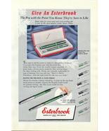 1950 Esterbrook Pen Pencil Set Christmas gift print ad - $10.00