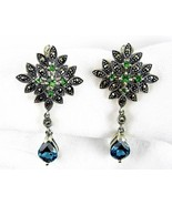 London Blue Topaz + Tsavorite Garnet Sterling S... - $150.72