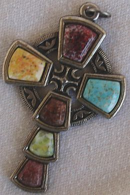 Artistic metal cross