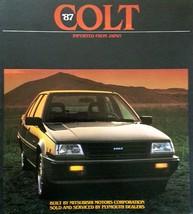 1987 Plymouth COLT dlx brochure catalog US 87 Premier DL Mitsubishi - $6.00