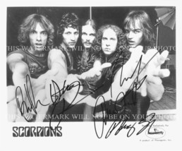 THE SCORPIONS BAND AUTOGRAPHED 8x10 RP PROMO PHOTO ROCK YOU LIKE A HURRI... - $14.99