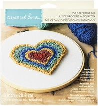 "Dimensions Punch Needle Kit 8"" Round-Heart Retro Pin - $20.46"
