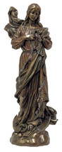 Our Lady of Knots Blessed Virgin Mother Mary 12 Inch Bronze Statue - $99.99