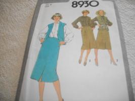 Misses Skirt, Blouse & Vest Pattern Simplicity 8930 - $10.00