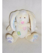 BABY CONNECTION/ WALMART CREAM YELLOW BUNNY RABBIT WITH PATCHES Plush Lovey - $9.89