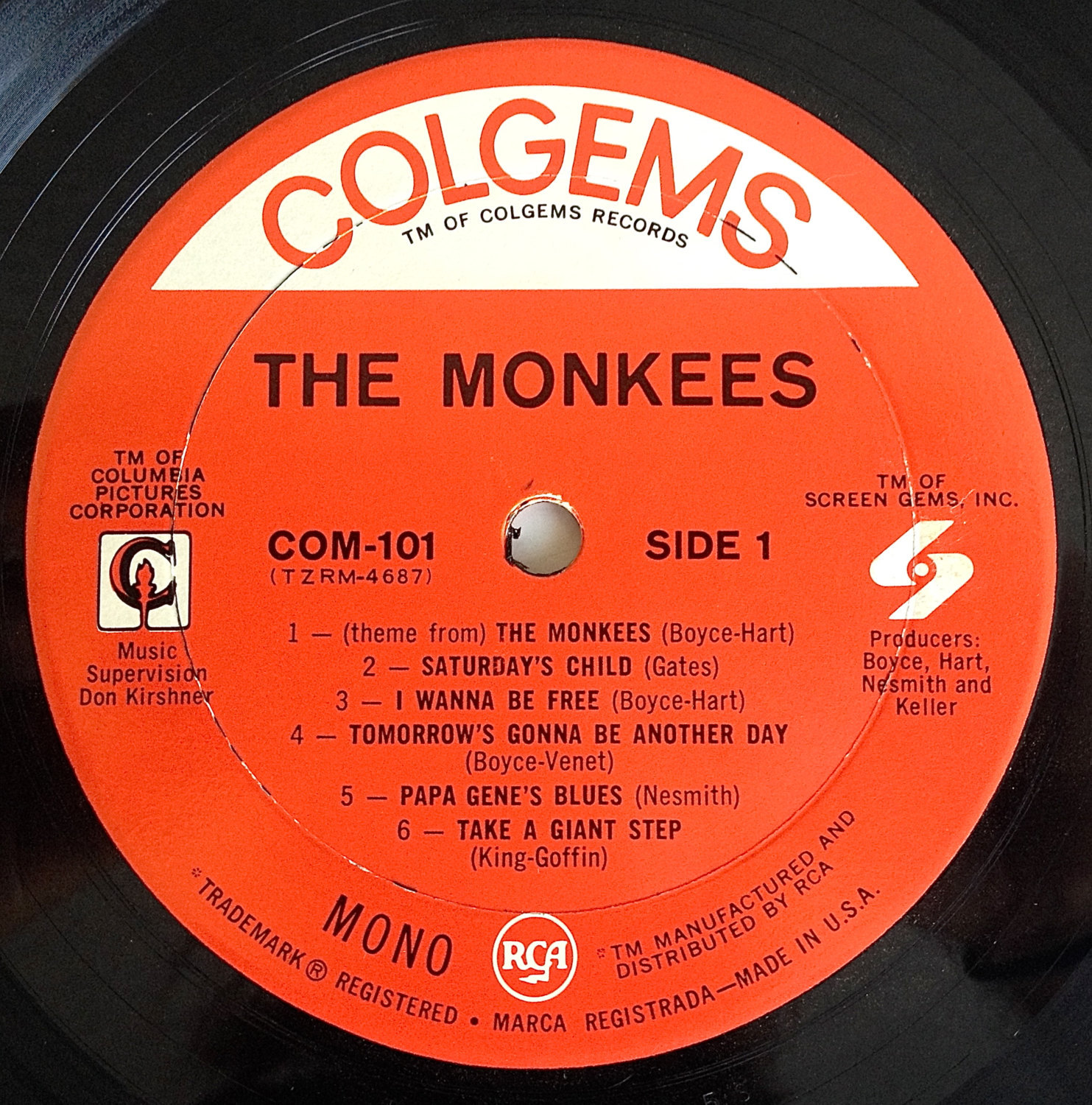 The Monkees - Self Titled LP Vinyl Record Album, Colgems - COM-101, Rock, Pop Ro