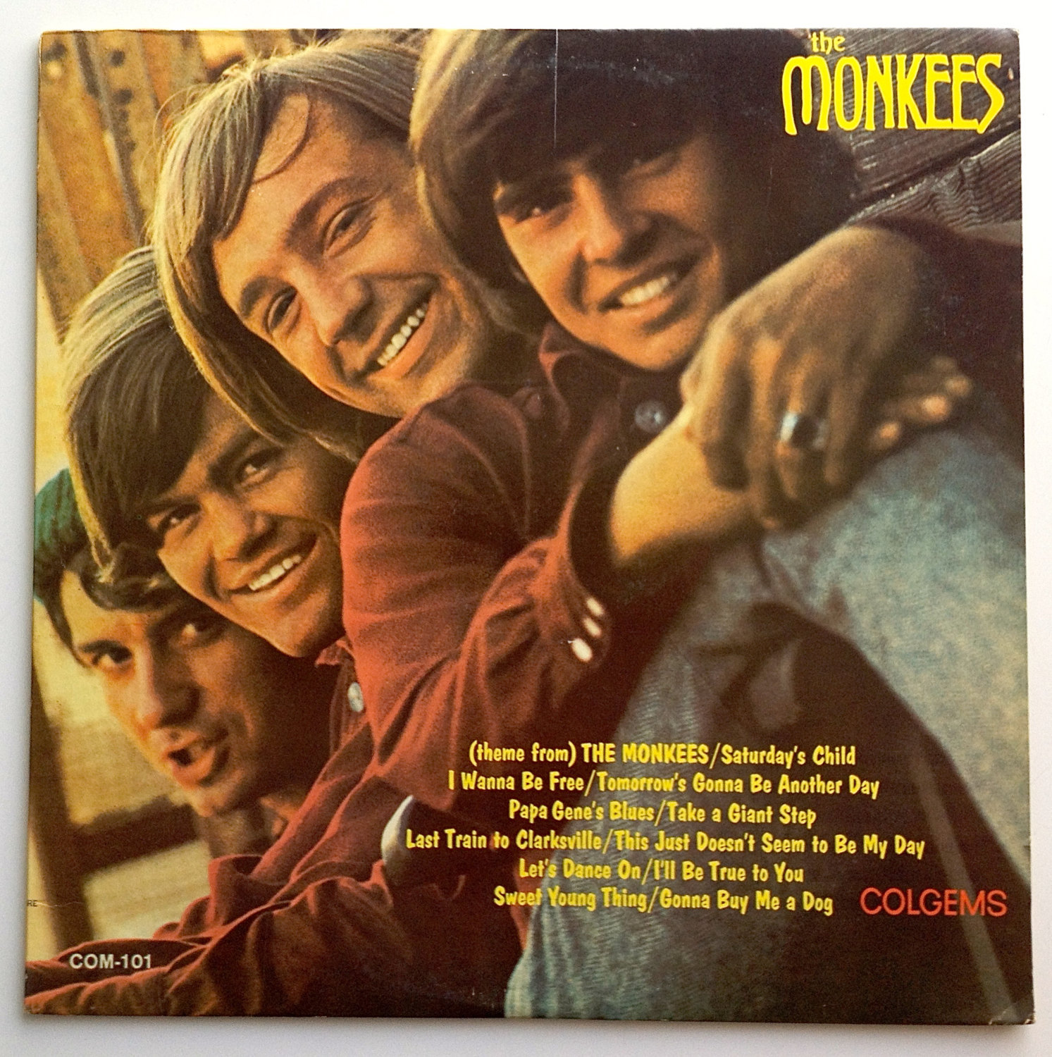 Primary image for The Monkees - Self Titled LP Vinyl Record Album, Colgems - COM-101, Rock, Pop Ro