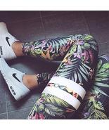 Floral Striped Print Yoga Leggings - $21.24+